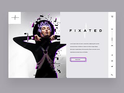 Fixated Ui/Ux Design Concept logo illustration design ux ui photography graphic design ux design ui design web design