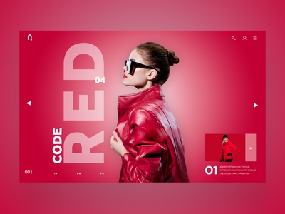 Code Red Ui Design Landing Page Concept design inspiration web designer logo illustration design ux ui photography graphic design ux design ui design web design