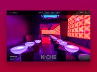K-Che Club Landing Page Design