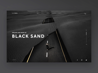Dreams are made of black sand (Ui Design Concept)