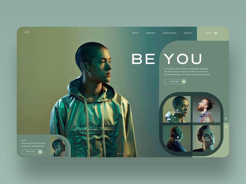 Be You Ui Design Concept photography design inspiration ux ui uiux graphic design ui design web design
