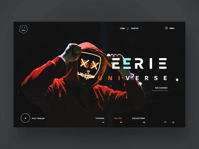 Happy Halloween - EErie universe photography halloween ux design ux ui graphic design ui design web design