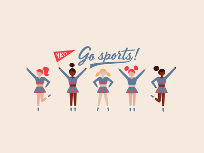 Cheerleaders for Yay! Go sports! Podcast