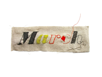 Stitched Typography