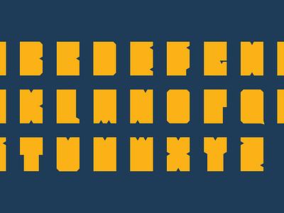 Spacetangular typeface typography font geometric type alphabet square rectangle
