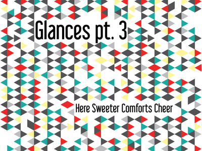 Glances Pt. 3 - Album Cover album music triangles quilt cd pattern