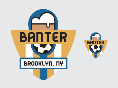 Banter | Logo logo mark brooklyn bar soccer new york city new york football futbol