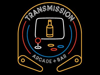 Transmission Arcade Logo south carolina columbia joystick pinball arcade logo mark bar branding