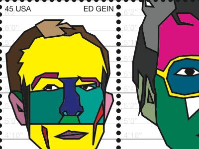 Stamps of American Culture illustration stamp portrait