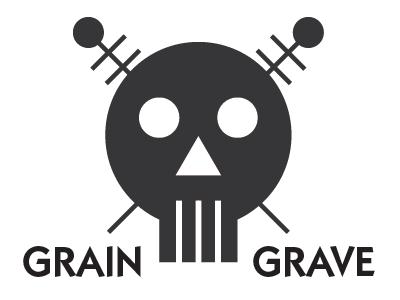 Grain Grave logo branding illustrator restaurant beer bar skull death