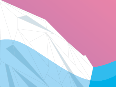 Iceberg Love Letter illustration iceberg water gradient