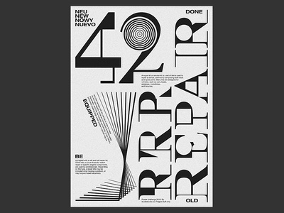 Typography poster tests