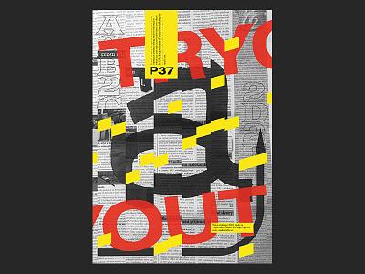 Analog + digital test posters print design poster design typography print postereveryday poster experimental