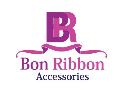 Bon Ribbon Accessories logo design graphic design illustration