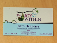 Business Card Design Joy Within