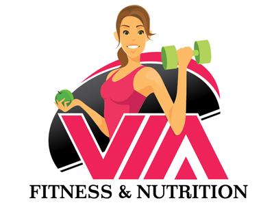 Via Fitness & Nutrition logos marketing logo design graphic design illustration