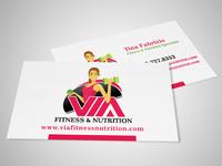 Via Fitness Business Cards