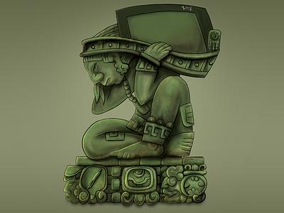 Maya Mocaw mayan art maya cintiq27qhd wacom digital art