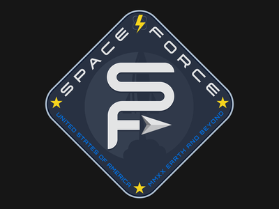 Space Force spaceship space scifi rocket missionpatch illustration explore dribbleweeklywarmup