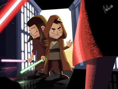 Star Wars illustration design character-design photoshop jedi dark-side lightsaber illustration star-wars