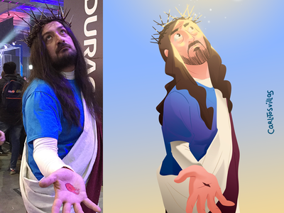 Festigame art 3 miracle colors cosplay cosplayer light jesus festigame