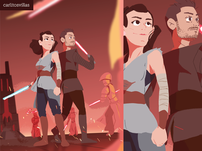 Star Wars Day illustration photoshop digital-art sketch movie kylo rey maythe4thbewithyou maythe4th star wars