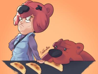 Nita with he's bear