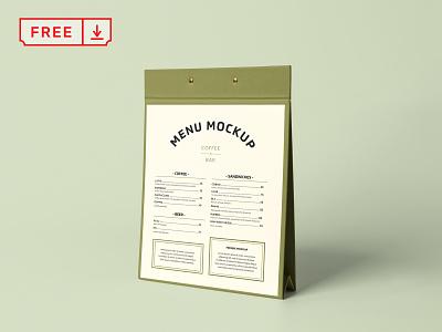 Free Menu Stand PSD Mockup mockup logo typography design print menu stand menu branding identity mockups download psd