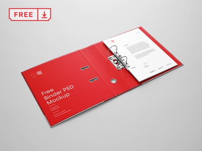 Free Perspective Binder Mockup mockups typography design template print stationery branding identity freebie psd free download