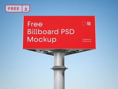 Free Billboard Mockup typography design illustration print template identity billboard psd free download