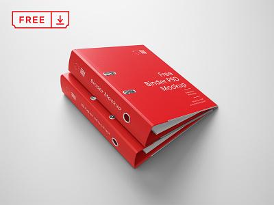 Free Binders Mockup branding design typography template binder freebies stationery identity psd free download