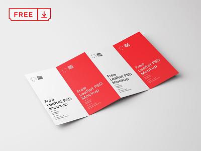 Free Four Fold Brochure Mockup font print stationery typography branding design illustration mockup psd free download