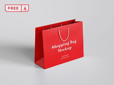 Free Shopping Bag Mockup illustration design print logo identity branding paper bag shopping psd free download