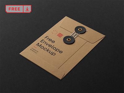 Free String Envelope Mockup branding design print template typography identity string envelope mockup psd free download