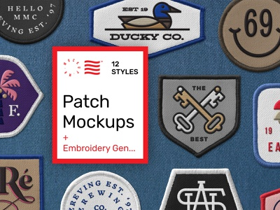 Embroidered Patch Mockup psd branding vector mockups typography logo design identity patch design patch download