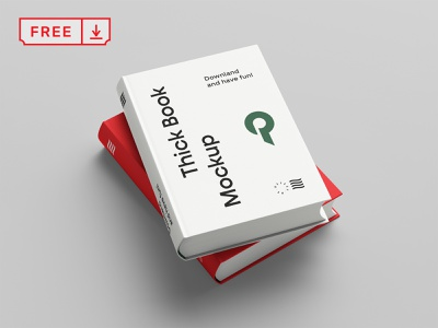 Free Two Books Mockup logo book cover download psd template typography mockups illustration design font print
