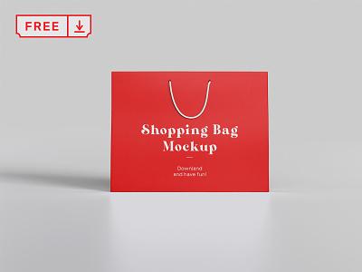 Free Front Shopping Bag Mockup branding typography design mockups logo bag shopping identity psd free download