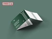 Free 3 Fold Landscape Brochure Mockup logo font print design template typography identity brochure mockup psd free download