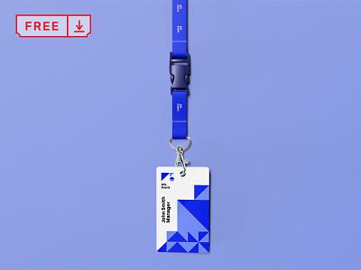 ID Card Mockup logo font print id card id branding identity design stationery mockup psd free download