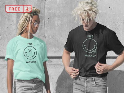 T Shirts PSD Mockup template print mockups font design illustration logo t-shirt psd free download