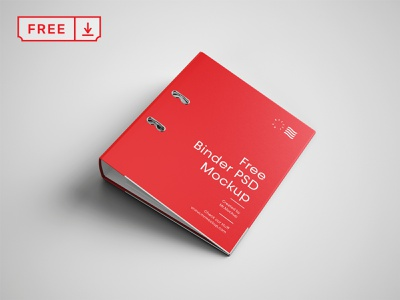 Binder Cover Mockup stationery binder design font print typography branding identity mocup psd free download