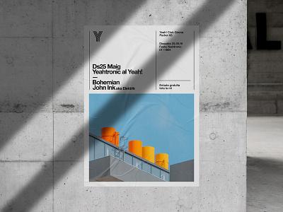 Glued Poster Mockups Premade Scene bundle mockups poster glued print font template design illustration psd download