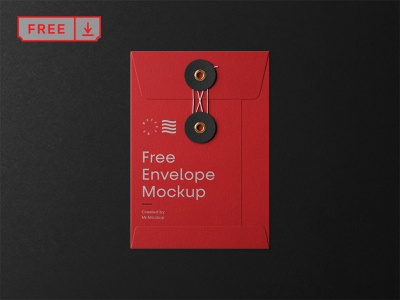 Free Small String Envelope Mockup print typography template stationery design identity branding envelope mockup psd free download