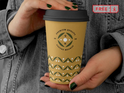 Free Big Coffee Cup Mockup café font design identity branding coffee cup coffee mockup psd freebie free download