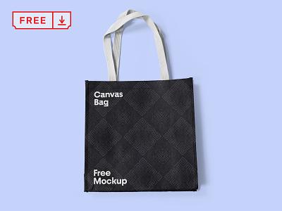 Canvas Bag PSD Mockup illustration identity typography logo design branding canvas bag freebie mockup psd free download