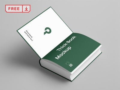 Free Open Book Mockup template design illustration font typography print book mockup psd freebie free download