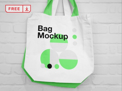 Free Hanging Canvas Bag Mockup typography illustration design stationery psd identity branding canvas bag freebie free download