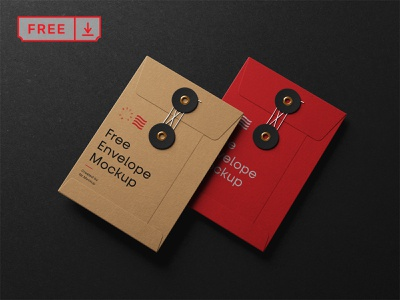 Free String Envelope Mockup typography identity illustration logo design stationery branding envelope freebie free psd download