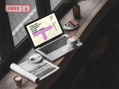 Free MacBook Pro in Cafe Mockup identity macbook app web design illustration design mockups font template psd free download