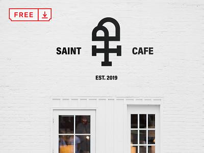 Free White Wall Mockup wall mockups typography template design logo branding identity psd freebie free download